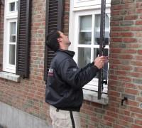 luiken monteren louvre venster raam houten aluminium